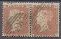 1854 Penny Red Pair
